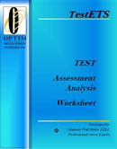 Career TEST Assessment Analysis Worksheetfor Myers-Briggs Type Indicator® MBTI® career tests Strong Interest Inventory® SII career interest tests Highlands Ability Battery THAB ability aptitude career tests