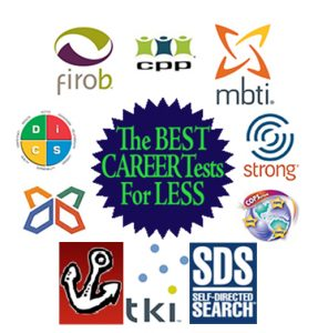familiar online career test brands or publishing entity (i.e. Myers Briggs® Test, Strong Interest Inventory®, Highlands Ability Battery, MORE...)